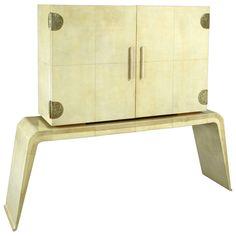 c. 1935 Art Deco Italian Parchment Cabinet