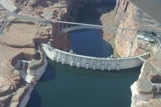 Hoover Dam located near Las Vegas. If you go to Las Vegas, you should make this tour--fascinating.