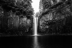 Abiqua Falls Black and White A black and white shot of Abiqua Falls in Marion County, Oregon. black white Abiqua Falls Marion County Oregon water waterfall waterfalls forest Pacific Northwest hike hiking wilderness outside PNW outdoors pacific northwest explore mountain view views quest live authentic outbound trees love beautiful happy fun art smile style amazing cool awesome adventure