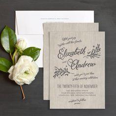 Rustic Chic Wedding Invitations by Emily Crawford   Elli