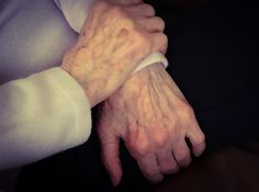 'I am not young enough to know everything.' ~Oscar Wilde  My grandmother is feeling sad because in the retirement home they do not stimulate her brains anymore... #age #aging #grandmother #sad #hands #retirement #quote #oscarwilde