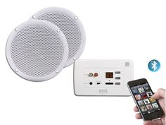 "Buy - AVID3BT In-Wall Bluetooth Amplifier & 6.5"" Two-Way Waterproof Ceiling Speakers - Clever Little Box"