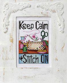 Bobbie G. Designs - Keep Calm & Stitch On - Cross Stitch Pattern