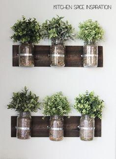 love this herb garden in the kitchen grow lights