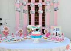 Shabby Chic Birthday Party Sweets Table -