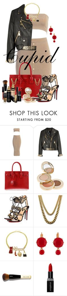 """""""112-Cupid"""" by texasradiance ❤ liked on Polyvore featuring Moschino, Yves Saint Laurent, Jane Iredale, Christian Louboutin, Les Néréides, Bobbi Brown Cosmetics, Gucci and Smashbox"""