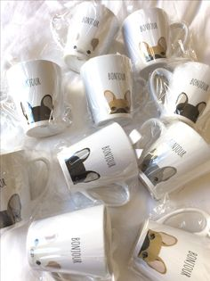 French Bulldog Coffee Cups, from www.thefrenchiestore.com