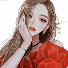 Fashion girl background ideas for 2019 Pretty Anime Girl, Beautiful Anime Girl, Anime Art Girl, Manga Girl, Anime Girls, Girl Cartoon, Cartoon Art, Pretty Art, Cute Art