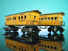 MARX WELLS FARGO COACH BAGGAGE CAR TIN LITHO O SCALE PLAYSET TRAIN 1959 | eBay #vintagetoys #trains