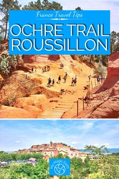 The Ochre Trail in Roussillon is a perfect day trip from Avignon or Marseille. It offers scenes that you could not get elsewhere in France. France Travel Guide | Provence Travel tips | Cote d'Azur travel tips | French Riviera Travel Tips | where to go in France | Where to visit in Provence | Ochre Trail in Roussillon #France #法国 #familytravel #provence #cotedazur #provencecoast #beautifulplace #ochretrail #roussillon Europe Travel Guide, France Travel, Travel Guides, Travel Destinations, Hidden Places, Places In Europe, French Riviera, European Travel, Day Trip