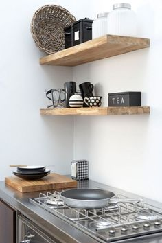 Modern wood shelf designs favorites rustic open shelving in the kitchen kitchens kitchen shelves home decor Decor, Kitchen Interior, Shelves, Interior, Diy Kitchen Shelves, Kitchen Decor, Home Decor, Home Kitchens, Shelving