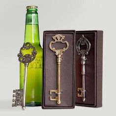 When you can take something purely functional like a bottle opener and transform it into a beautiful conversation piece, we deliver it to you with our highest recommendation. Equal parts pretty and practical, our Key Bottle Opener makes an unforgettable hostess gift, stocking stuffer, graduation or housewarming gift at a price you'll celebrate.