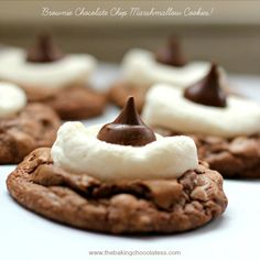 Brownie Chocolate Chip Marshmallow Cookies! – The Baking ChocolaTess
