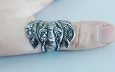 Hey, I found this really awesome Etsy listing at https://www.etsy.com/listing/126928872/silver-elephant-ring
