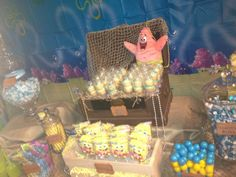Candy at a  Sponge Bob Party #spongebob #partycandy