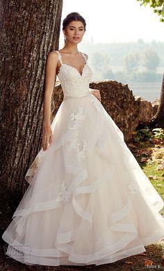 eddy k 2019 ek sleeveless with strap sweetheart neckline heavily embellished bodice layered skirt romantic a  line wedding dress (32) mv -- Eddy K. 2019 Wedding Dresses