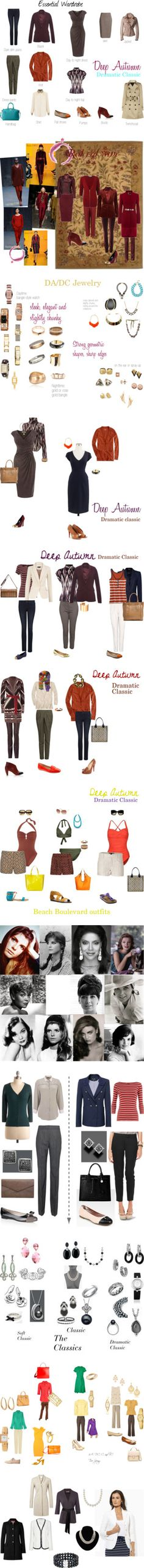 """Kibbe Dramatic Classic: ""Striking."""" by in-vero-pulcritudo on Polyvore"
