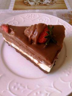 H μάνα του ... λόχου: Cheesecake τριπλής σοκολάτας Greek Recipes, Tiramisu, Cheesecake, Pudding, Ethnic Recipes, Desserts, Cakes, Food, Pies