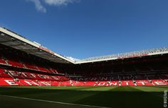 A general view prior to the Barclays Premier League match between Manchester United and Tottenham Hotspur at Old Trafford on August 2015 in Manchester, England. Barclay Premier League, Manchester United Football, Football Stadiums, Premier League Matches, Old Trafford, Man United, Tottenham Hotspur, Soccer, England