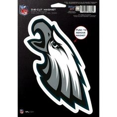 """Philadelphia Eagles 6X9 Magnet by WinCraft. $3.50. Magnet. 6.5x9. In Stock. Chrome. This officially licensed die cut logo magnet made of weather resistant materials. Perfect for the car, truck, toolbox, file cabinet, or fridge. Sheet measures 6"""" x 9"""". Made in the USA. Save 50%!"""