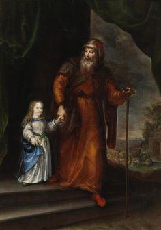 San Joaquín conduciendo a la Virgen niña de la mano // Segundo tercio del siglo XVII // Francisco Camillo // #VirginMary #SaintJoachim