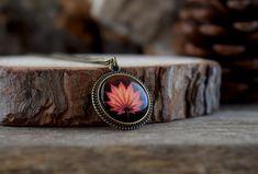 Maple leaf necklace Fall leaf pendant Autumn by TriccotraShop