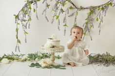 Tuscany theme, Italy, white, high key, outfit, dress, one year old, cakesmash, portrait, themed, ideas, Smash Cake Photo Session, Newport Beach photographer, 1st birthday session, Orange County photographer, working with babies and children, GilmoreStudios.com