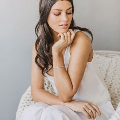 Our diamond jewellery featured here in @togetherjournal's latest issue.  Another gorgeous issue with loads of inspiration for your big day.  Photography by @coraleestone  Hair by Sid & Fern of @servilleshair  Makeup by Olivia of @bobbibrown  Styled by @gretanz  Diamond Jewellery by us #diamondsonrichmond  Model - Danika of @red11models  Chair and wool throw from @alexandcorban Singlet from @knuefermann.