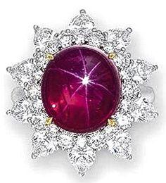 Star Ruby & Diamond Ring