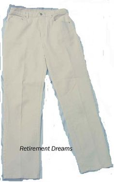 CHICOS DESIGN size 1 Beige off white Denim Pants Jeans stretch small FLAW #ChicosDesign #StraightLeg