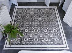 Creative Tile Rug Inlay Ideas for Your Bathroom - The Urban Interior Tiles, Flooring, Deco, Tile Rug, Creative Tile, Encaustic Tile, Carpet Tiles Bedroom, Urban Interiors, Decorative Tile