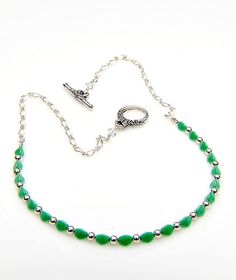 Green  Beaded  Necklace Green Necklace by CherylParrottJewelry, $34.95