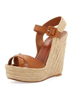 spring 2014 - Crisscross Leather Espadrille Wedge by Valentino at Neiman Marcus.