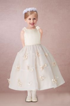 51% OFF Lovely Appliqued Flower Girl Dress in Champagne