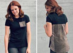 Refashioning - altes Hemd wird zur neuen Bluse