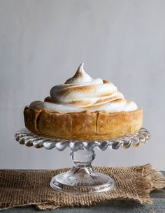 Food trends come and go, but there will always be pumpkin pie. Whether it's a traditional recipe that's been passed down from generation to generation, or one with a modern twist, no Thanksgiving is complete without this classic. Piped high with fluffy, toasted marshmallow-like topping, this deep-dish pumpkin meringue pie will spice up your dessert table this year.
