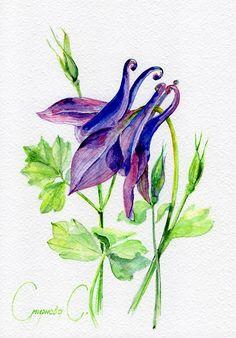 Original watercolor painting from the artist, Svetlana Smirnova on ETSY: https://www.etsy.com/shop/NatalieStorePainting *Also available on EBAY: https://www.ebay.com/usr/jet_ua?_trksid=p2047675.l2559