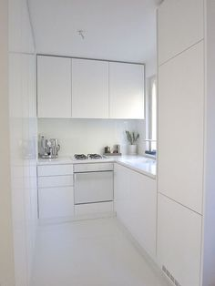 all white, little and minimal I compact living
