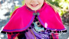 Snow Princess Cape ~ inspired by Princess Anna's cape from Disney's Frozen. This adorable cape will make your little girl feel like the princess she is ... ~ Free pdf pattern & tutorial ...
