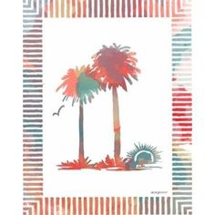 Watercolor Palms IV Canvas Art - Nicholas Biscardi (22X28)