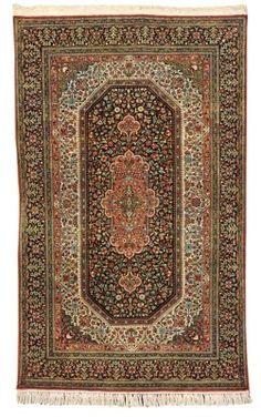 silk Qum rug   --224cm. x 137cm.(7ft.4in. x 4ft.6in.) I Christie's Sale 5755