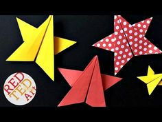 Easy Origami Stars - Red Ted Art's Blog