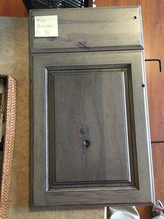 StarMark - Rustic Hickory Accord panel - Driftwood finish with Ebony edge glaze  (at Marsh Cabinets)