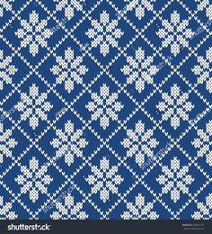 Floral Argyle Seamless Knitting Pattern Fair Isle Knitting Patterns, Knitting Charts, Knitting Stitches, Knit Patterns, Crochet Borders, Filet Crochet, Knit Crochet, Cross Stitch Art, Cross Stitch Patterns