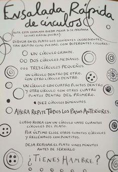 La cocina de dibujos-Hervé Tullet Spanish Activities, Activities For Kids, Preschool Classroom, Kindergarten, Hand Lettering Art, Herve, Crafty Kids, Gross Motor, School Hacks