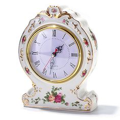 ShopHQ Online Home Shopping - Royal Albert® Old Country Rose Victorian Clock…