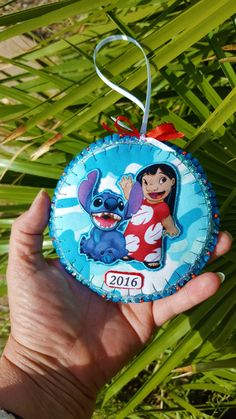 Lilo and Stitch Felt and fabric by DebsArtsyEnchantment on Etsy