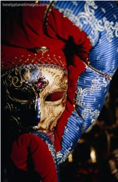 Elaborate and Ornate Mask for Venice Carnival, Venice, Italy Photographic Print