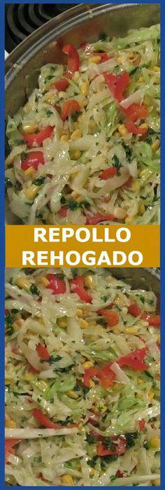 Repolho refogado especial - Comida y bebida - Vegetable Base Recipe, Vegetable Dishes, Vegetable Recipes, Mexican Food Recipes, Vegetarian Recipes, Cooking Recipes, Healthy Recipes, Ethnic Recipes, Good Food