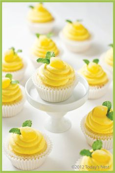 Lola's Lemon Cupcakes-are thick, moist cake with a limoncello buttercream icing.  It's a lemon explosion…in a really good way.  It's cocktails meets cupcakes.